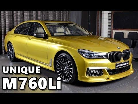 BMW M760Li Individual in Austin Yellow