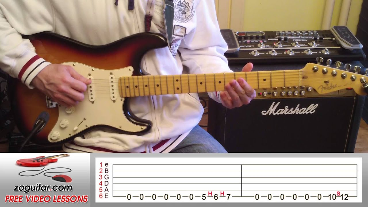 How To Play Roadhouse Blues by The Doors on Guitar (main riff) + TAB - YouTube & How To Play Roadhouse Blues by The Doors on Guitar (main riff) + TAB ...