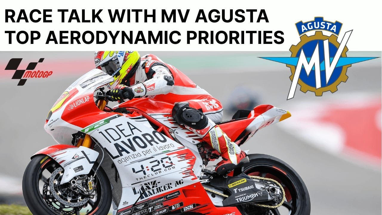 Race Talk with MV Agusta - Top Aerodynamic Priorities for moto GP bikes