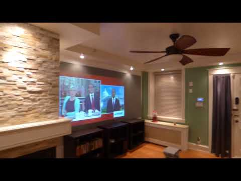 WATCH YOUR TV SHOWS USING YOUR PROJECTOR IN A FULLY LIT ROOM