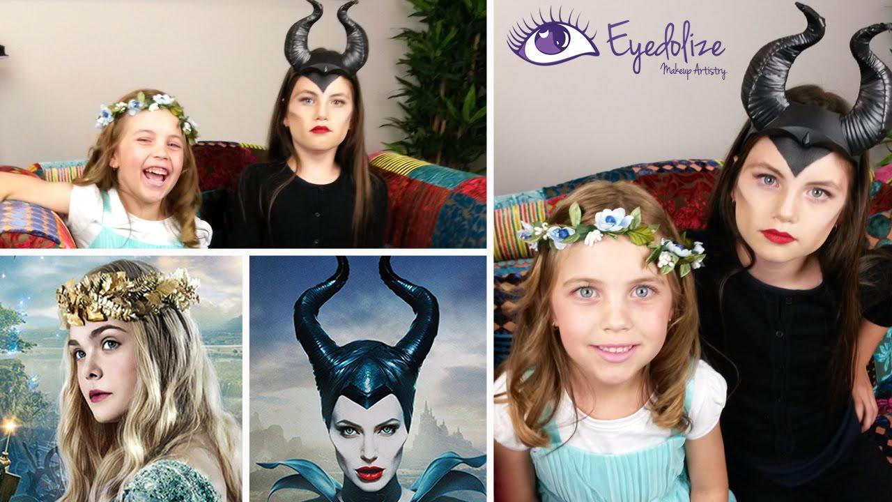 Kids Maleficent Dress Ups Tutorial With Eyedolizemakeup Charliscraftykitchen