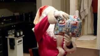 Santa came to visit us after leaving Justin Bieber