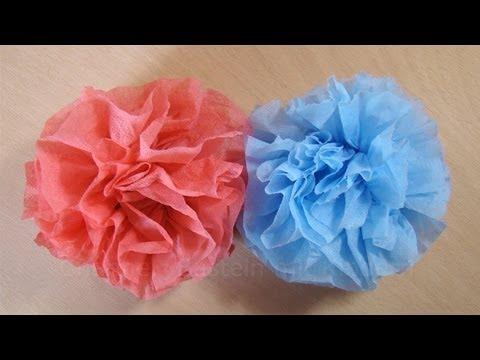 Bastelanleitung Blumen basteln aus Servietten  YouTube