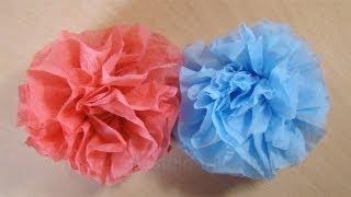 Repeat youtube video Bastelanleitung: Blumen basteln aus Servietten