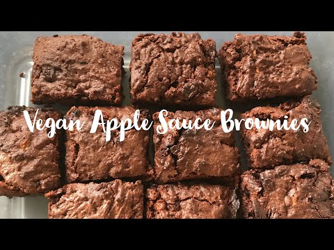 Vegan Apple Sauce Chocolate Brownies - Cooking With Penny!