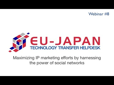 Webinar # 8: Maximizing IP marketing efforts by harnessing the power of social networks