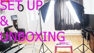 2 x Continuous Lighting Kit  Soft Box Photo Studio Set Bulbs 5500K Photography SET UP & UNBOXING screenshot 4