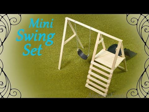 How to: Mini Swing Set - Doll Swing & Slide Tutorial