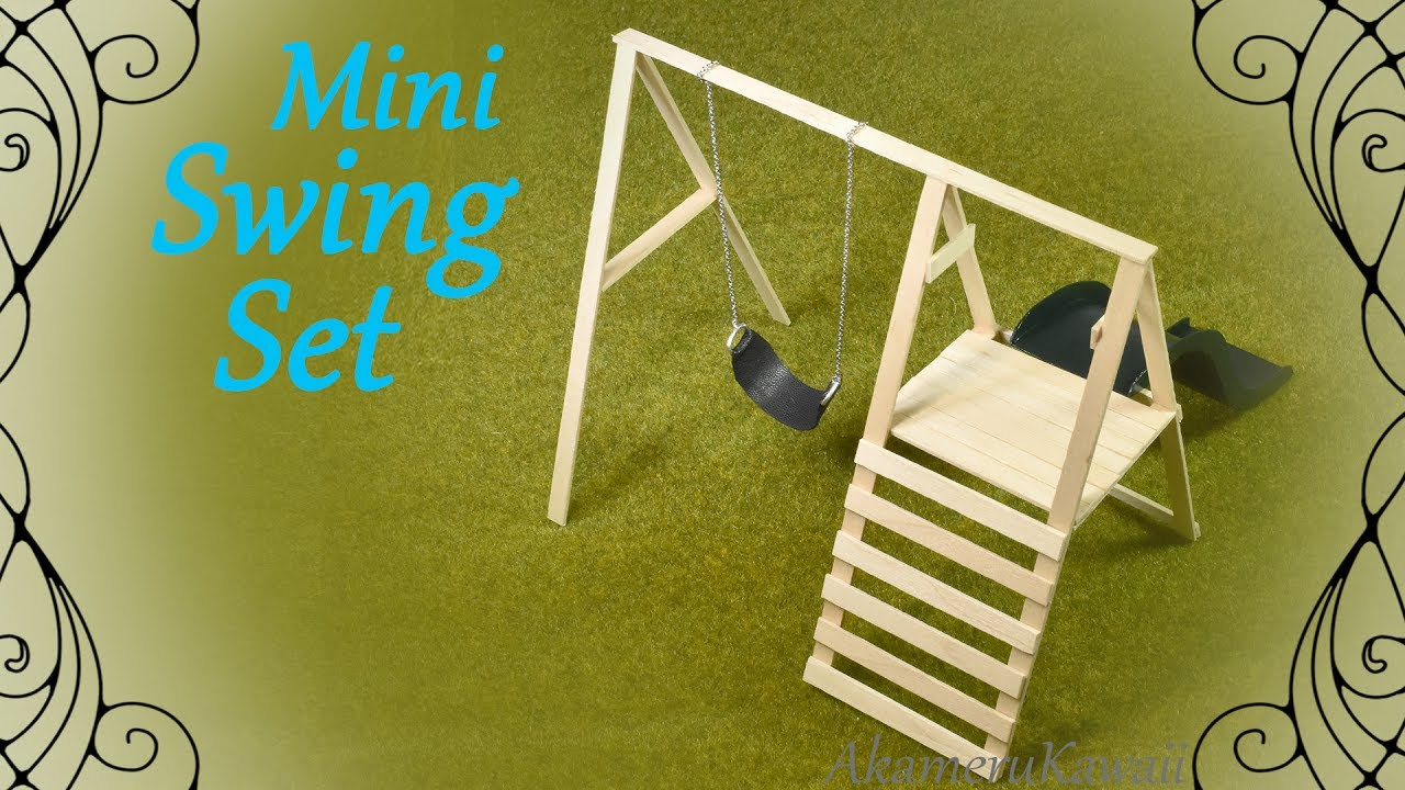 How to mini swing set doll swing slide tutorial youtube for Mini swing set