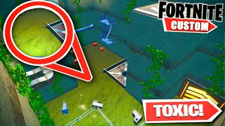 Fortnite UNDERWATER Portal 2.. FLOODED Lab Escape room (Fortnite Creative Mode)