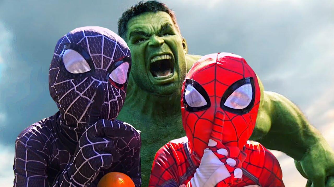 Hulk VS Team Spider Man The Amazing Spider-Man