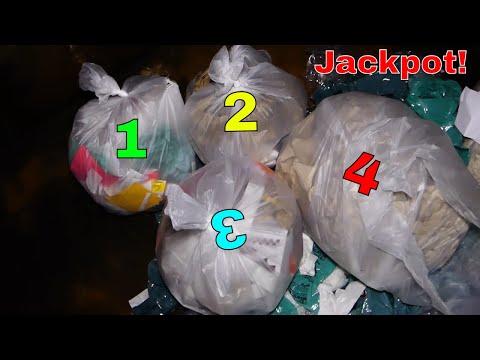 4 BAG JACKPOT!!! Gamestop Dumpster Diving Night #479