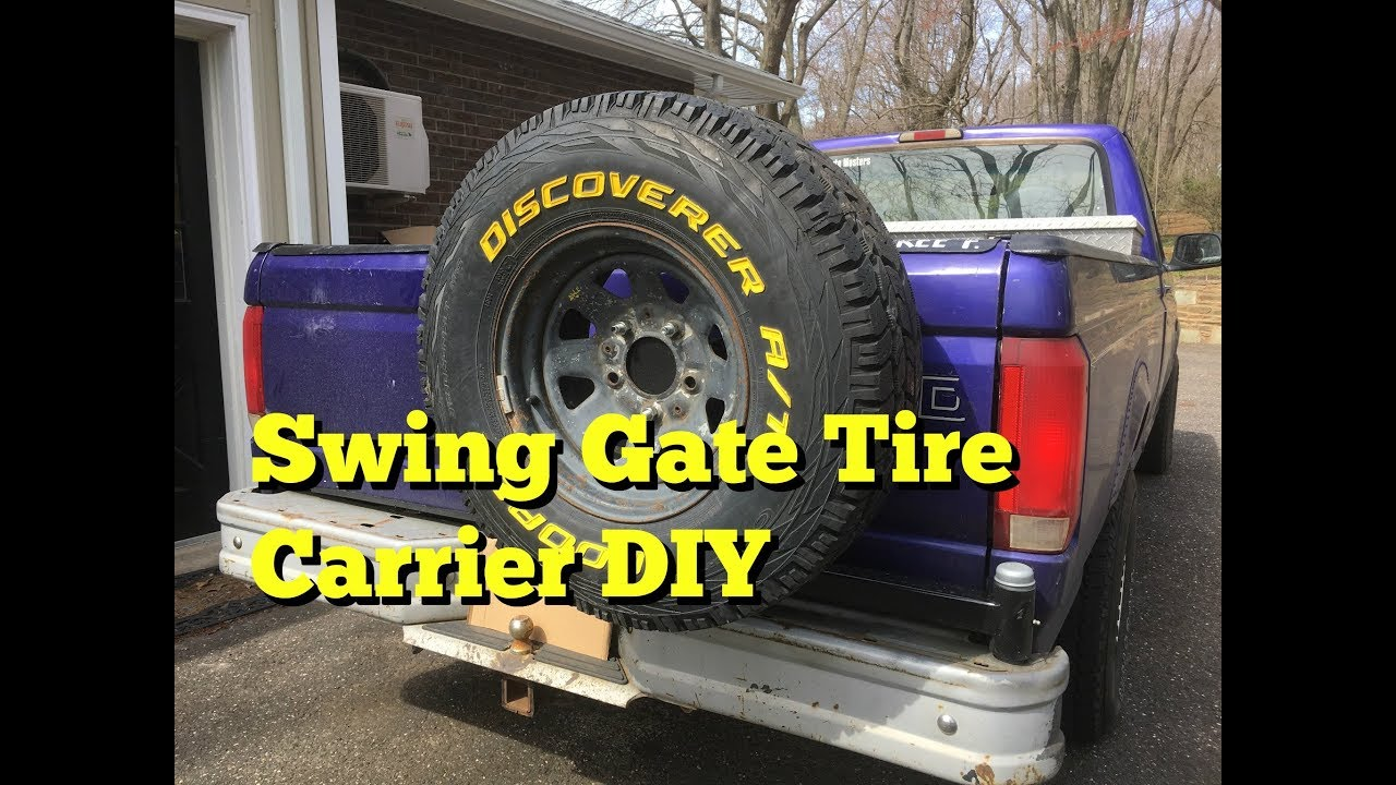Build A Ford >> DIY Swing Out Tire Carrier F150 - Part 1 - YouTube