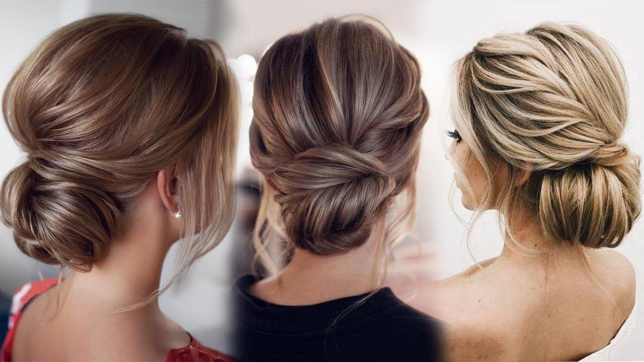 simple bun hairdos bridesmaid hairstyle