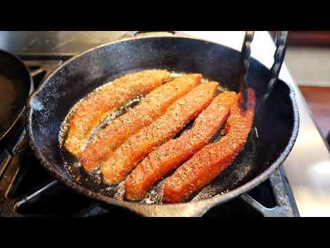 Blackened Salmon Tacos w/ Corn Slaw & Chipotle Sauce | Fish Tacos Recipe
