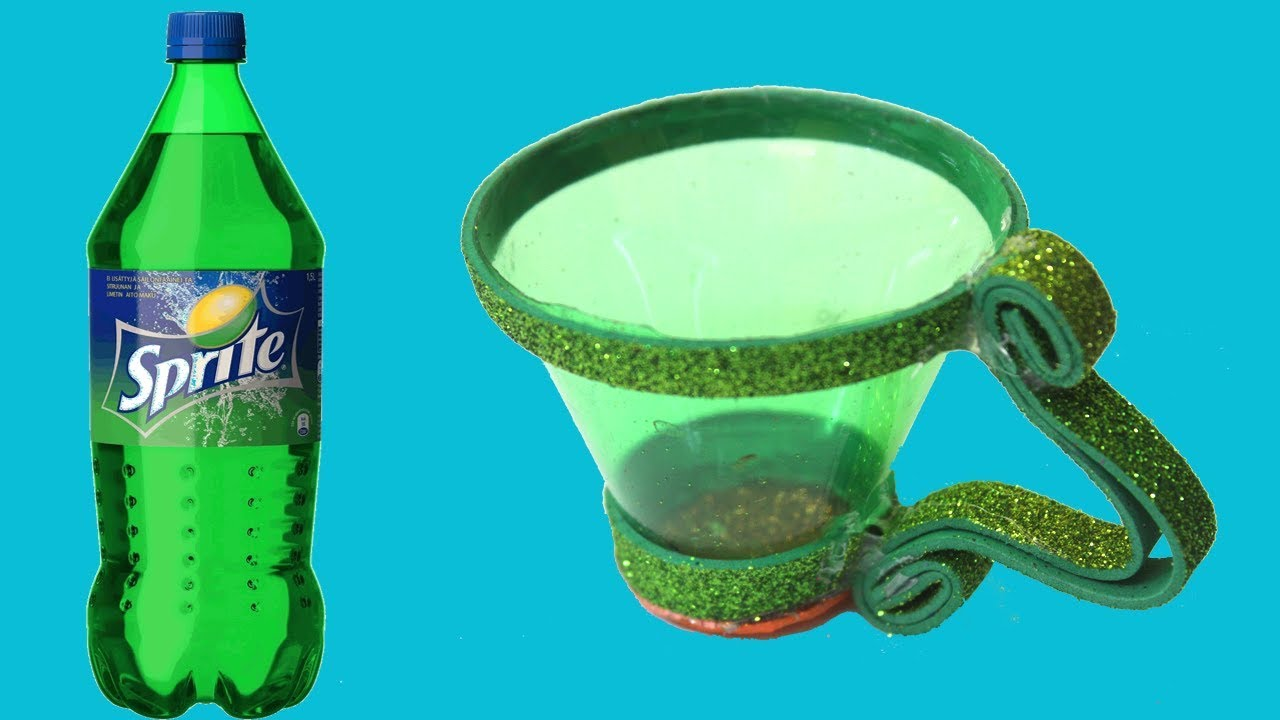Best Out Of Waste Idea Old Sprite Plastic Bottle Craft Idea Cup