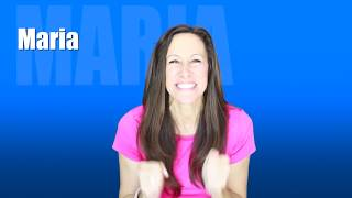 Sing and spell MARIA with Patty Shukla for Toddlers and Babies | What's Your Name?