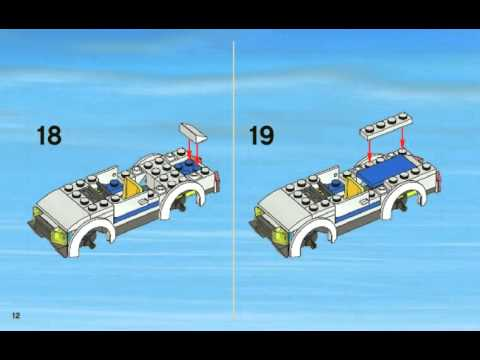 инструкция лего сити полицейская машина 60043