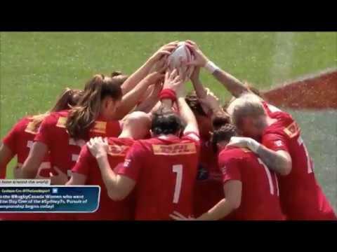 Canada Women's Sevens Team defeat France to reach semi-finals