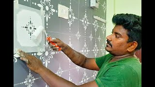 Wall Painting Stencils For Living Room Designs And Ideas (diy)