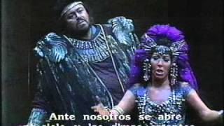 Luciano Pavarotti - Maria Chiara - AIDA - Finale - Scala Milano - Lorin Maazel. 1986