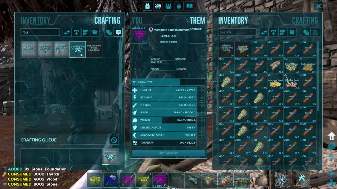 Ark Crafting Skill : Ark crafting skill explained & tested!!