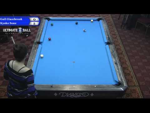 Gail Glazebrook vs Kyoko Sone at the Ultimate 10-Ball Championship