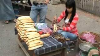 เที่ยวตลาดเช้าหลวงพระบางทางน่าน  Morning Market Luangprabang