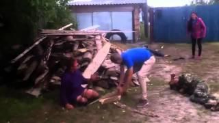 Пьяная драка в селе ПОЛНАЯ ВЕРСИЯ День села Drunk rural brawl