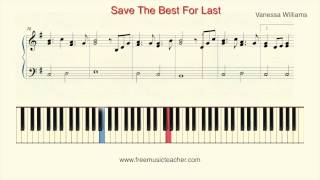 "How To Play Piano: Vanessa Williams ""Save The Best For Last"" Piano Tutorial by Ramin Yousefi"