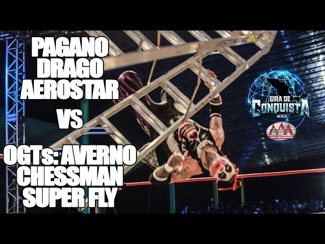 Pagano, Aerostar y Drago Vs OGTs  | Lucha Libre AAA Worldwide