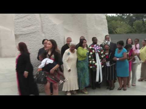 King Family at the Dr. Reverend. Martin Luther King Memorial