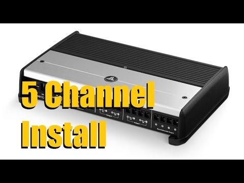 5 channel amplifier installation jl audio xd 700/5  anthonyj350