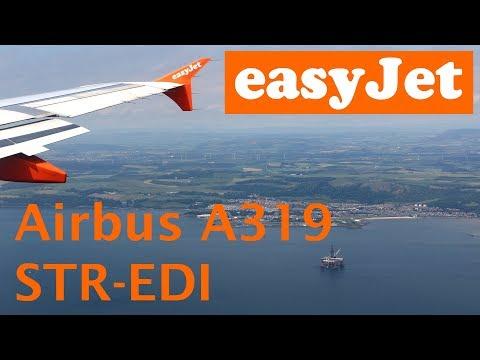 EasyJet A319 flight Stuttgart - Edinburgh trip report