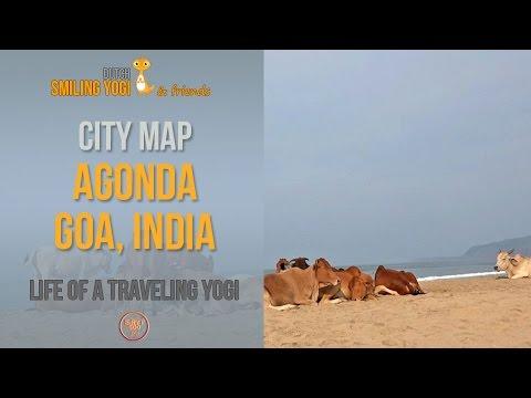 City map of Agonda Beach, South Goa (India) - travel vlog India