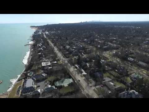 Wilmette Illinois Lakeshore flight