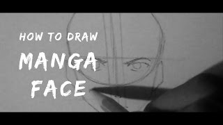How to draw a MALE MANGA FACE (Tutorial) - terrencestevens