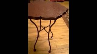 Repurposed Small Deco Metal Table