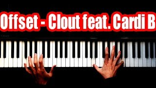 Offset - Clout ft. Cardi B - SUPER EASY - PİANO TUTORİAL