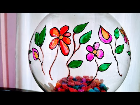 Glass Painting On Fishbowl