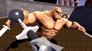 Most Brutal VR Game Ever - GORN