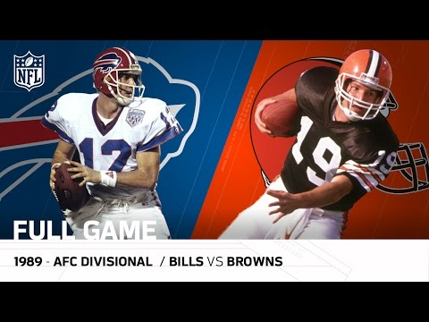 1989 AFC Divisional Playoff Game: Buffalo Bills vs. Clevelan