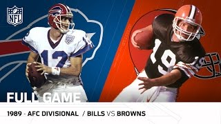 1989 AFC Divisional Playoff Game: <b>Buffalo Bills</b> vs. Cleveland ...