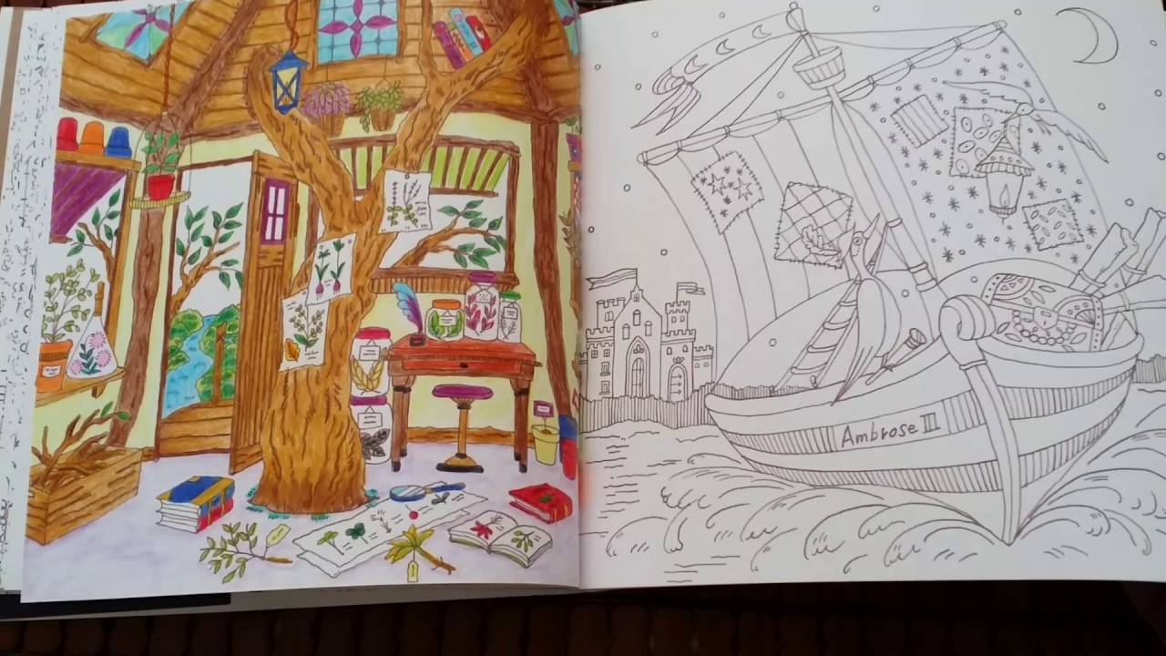 95 Romantic Country The Third Tale Coloring Book Free Images