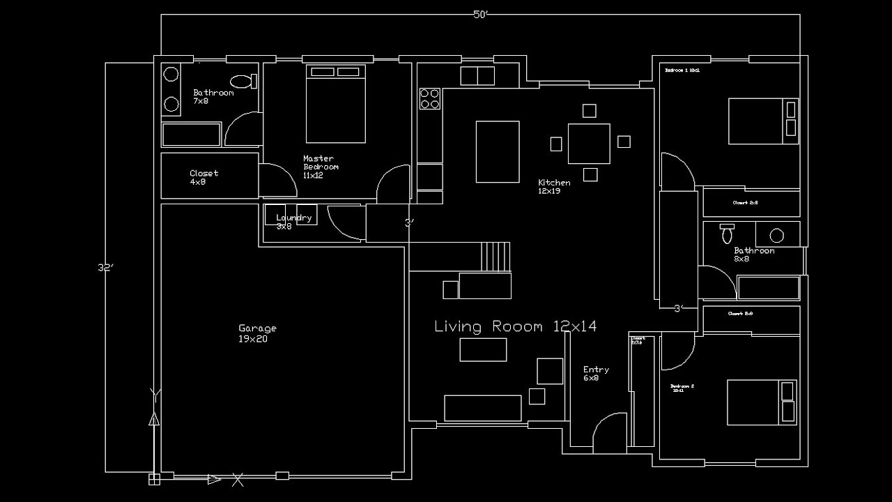 The Floor Plan Design Autocad