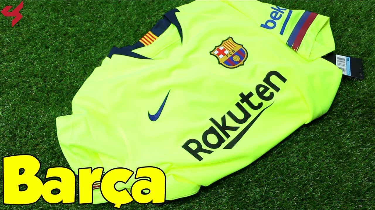 d25c3bd81 Nike FC Barcelona 2018 19 Away Soccer Jersey Unboxing + Review - YouTube