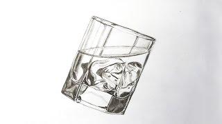 Как нарисовать БАКАЛ СТАКАН  простым карандашом . How to draw a glass with ice.(В данном видео вы можете увидеть как я рисовал бокал со льдом используя только простой карандаш . In this video..., 2015-02-22T16:49:05.000Z)
