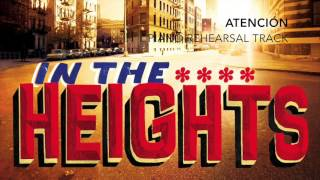 atencin in the heights piano accompaniment rehearsal track