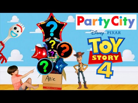Toy Story 4 Balloon Shopping Party City FORKY WOODY BUZZ! Party Balloons!