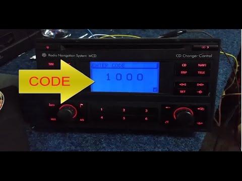 Radio Navigation System MCD BLAUPUNKT VWZ1Z2 RADIO CODE